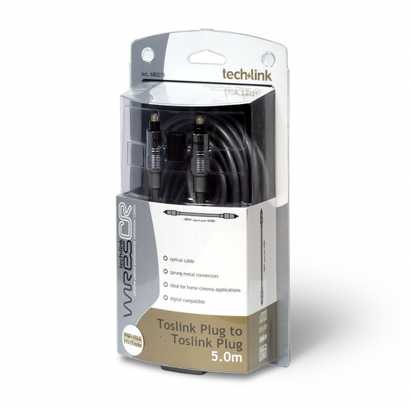 Кабель для подключения Tech Link WiresCR Toslink Optical Plug to Toslink Optical Plug (680215) 5.0 m. Вид 1