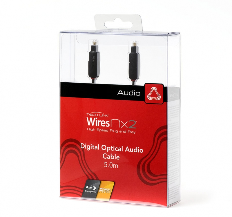 Кабель для подключения Tech Link WiresNX2 Toslink Optical Plug to Toslink Optical Plug (710215) 5.0 m. Вид 1