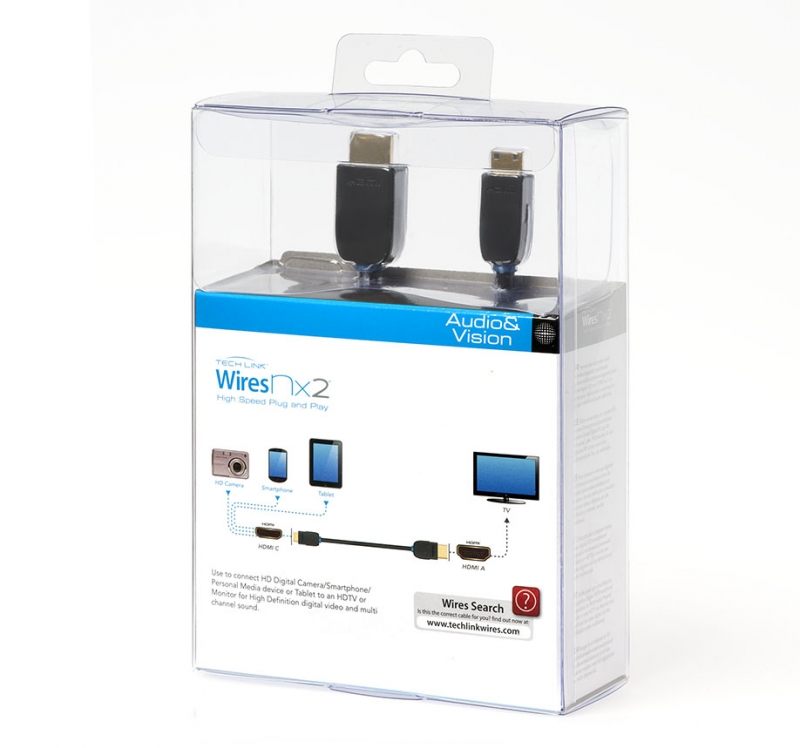 Кабель для подключения Tech Link WiresNX2 HDMI A Plug to HDMI Mini C Plug (710415) 5.0 m. Вид 1